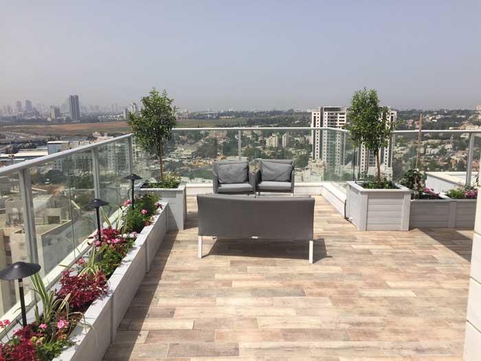 גינות גג ומרפסות - עיצוב גינות גג