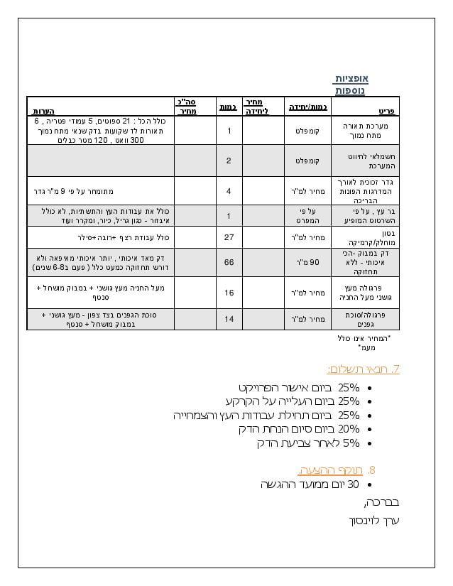 Document page 016 - דוגמא להצעת מחיר עבור עיצוב גינה