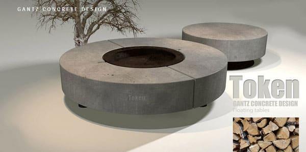 גינה 1 - שילוב Fire-Pit – שולחן אש בעיצוב גינה יוקרתית
