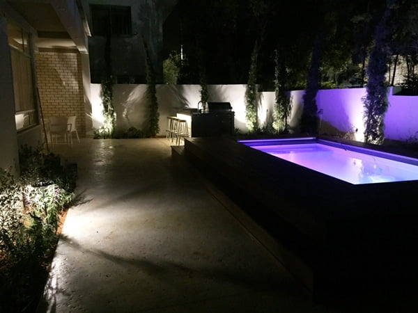 עיצוב גינה במבט לילה