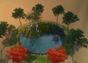 גינת יין יאנג עגולה 5 300x214 - פרויקטים אחרונים - עיצוב גינות אמנות הגינה הקסומה