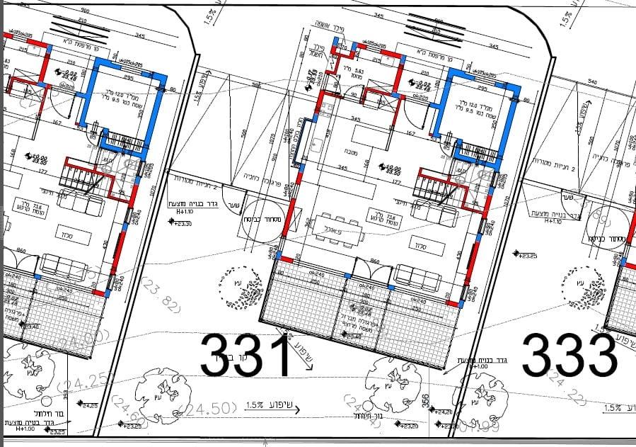 עיצוב גינה ממוחשבת בפרויקט סביוני ברוריה בבנימינה – מאי 2015 2 - הדמיות לעיצוב פרויקט בבנימינה
