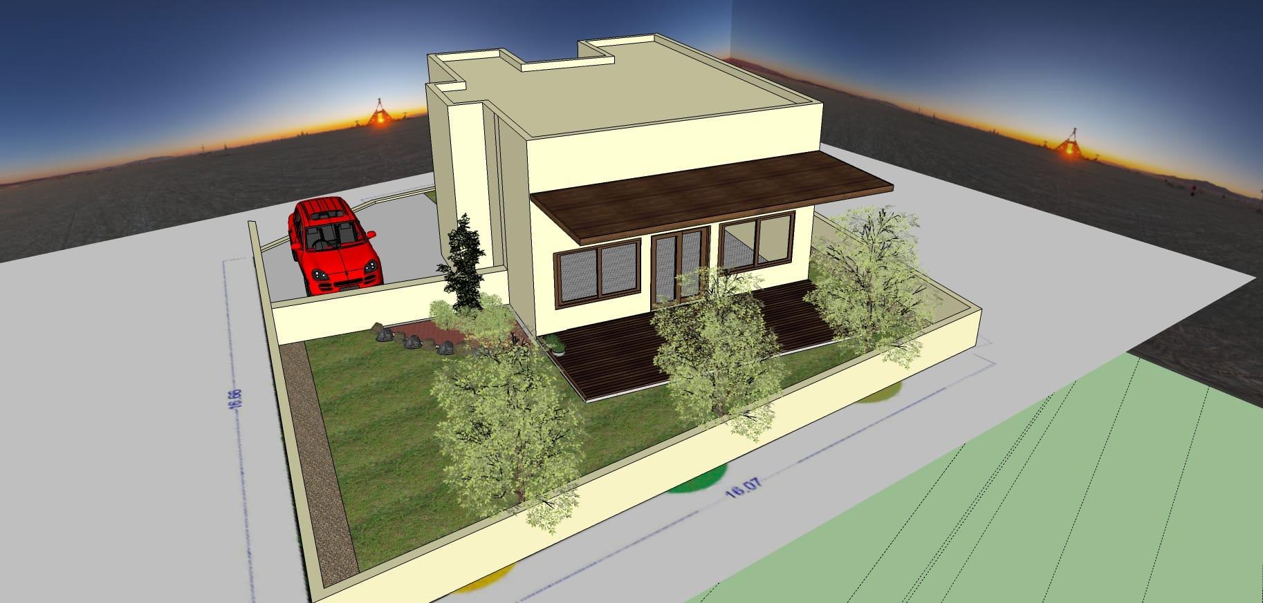 עיצוב גינה ממוחשבת בפרויקט סביוני ברוריה בבנימינה – מאי 20156 - הדמיות לעיצוב פרויקט בבנימינה