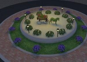 כיכר המושבה 2 1 300x214 - פרויקטים אחרונים - עיצוב גינות אמנות הגינה הקסומה