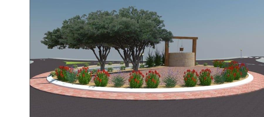 כיכר הרימון - תיכנון ועיצוב כיכרות ציבוריות