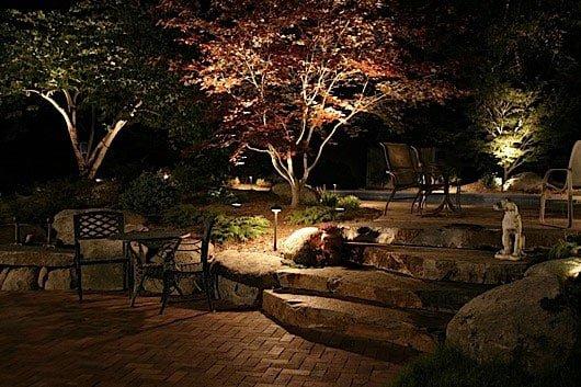 עיצוב גינה 2 3 - תאורת לילה
