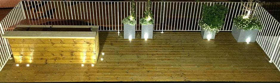 עיצוב גינה 3 1 - תאורת לילה