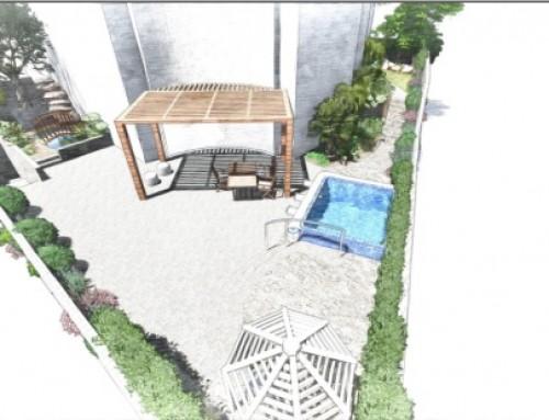 הדמיית עיצוב גינה – פרויקט בחיפה