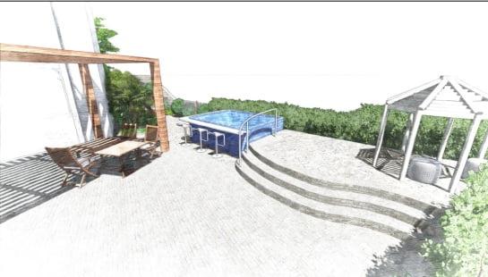 4 - הדמיית עיצוב גינה - פרויקט בחיפה