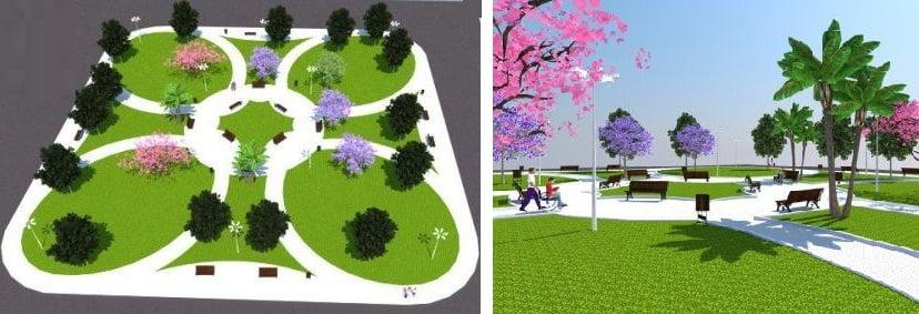 עיצוב גינות ציבוריות 4 - עיצוב ותכנון גינות ציבוריות