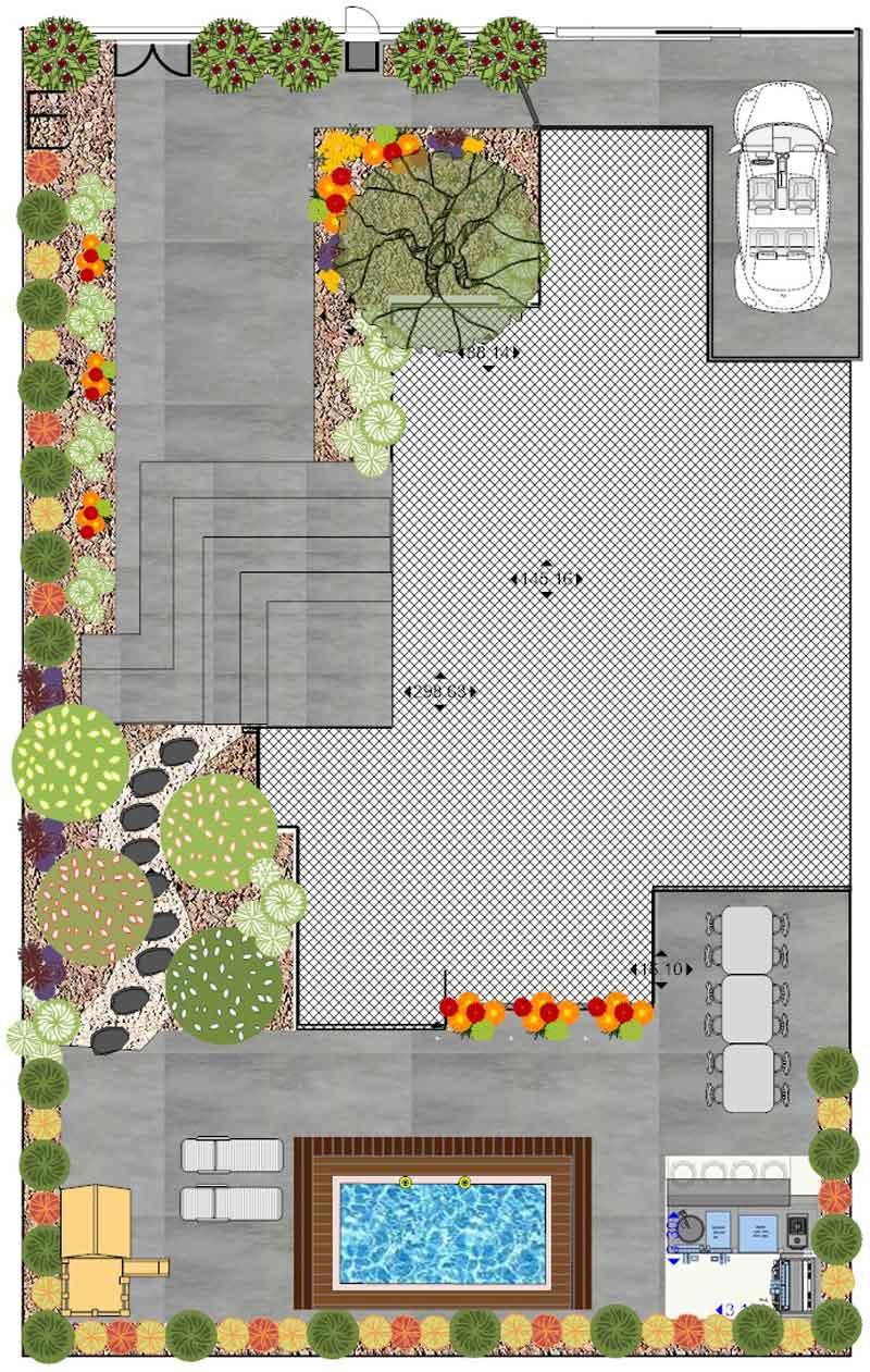 1 - תכנון גינה באמצעות תוכנת SMARTDRAW