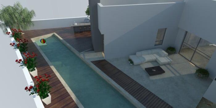 5 - הקמת בריכת שחיה ביתית