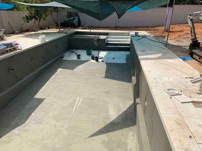 בריכת שחייה מבטון 2 - בניית בריכת שחייה מבטון