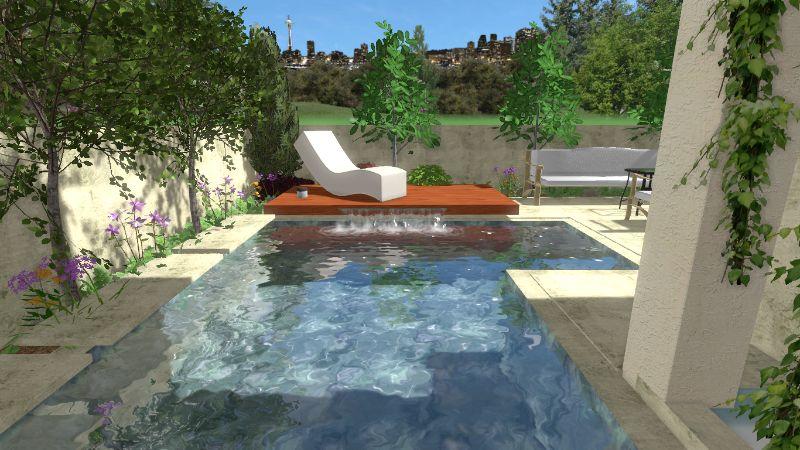 לפני הקמת בריכת שחיה ביתית - הקמת בריכת שחיה ביתית