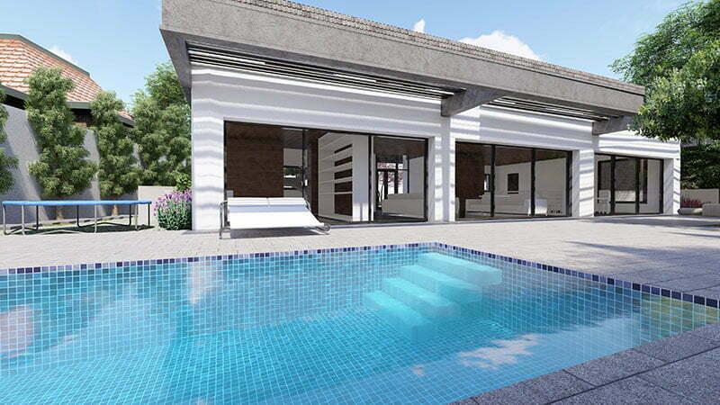 תכנון פרויקט יוקרתי עם בריכת שחיה בצפון תל אביב