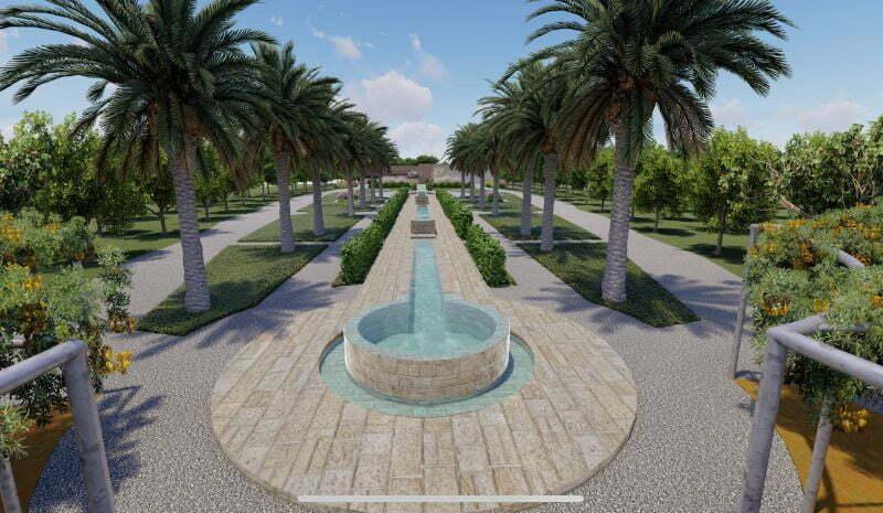 תכנון נחלה בסגנון גן צרפתי קלאסי